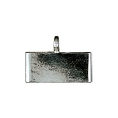 Plata 1ª ley - Terminales rectangulares - Planos - Ext. 16.2 x 3.45 mm. -Int. 15.2 x 2.5 mm.
